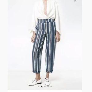 Chloe Striped Canvas Trouser